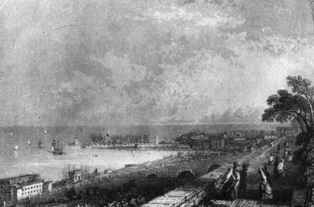 Одесса. Порт. Литография Ф. Гросса по рисунку П. Раненкамфа. 1830-е гг.