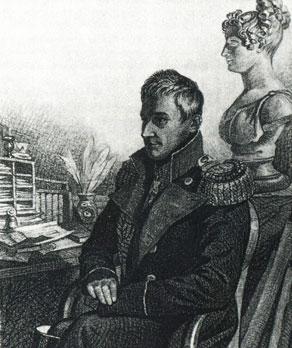 М. С. Воронцов. Рисунок К. Гампельна I четверть XIX в.