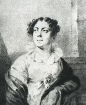 В. Ф. Вяземская. Рисунок Л. Молинари. 1810-е гг.