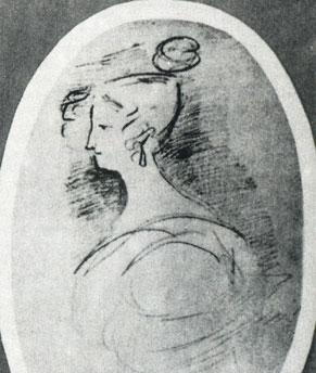 Е. К. Воронцова. Рисунок Л. С. Пушкина