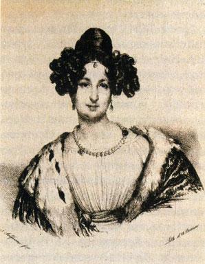 Е. К. Воронцова. Рисунок Салъферини