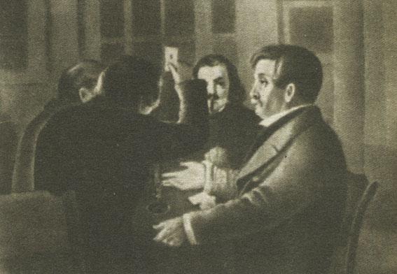 И. И. Пущин в Ялуторовске. С картины М. С. Знаменского 'Преферанс'