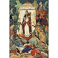 Шамаханская царица, Вся сияя как заря, Тихо встретила царя...