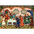 Царь Салтан гостей сажает За свой стол и вопрошает: Ой вы, гости-господа, Долго ль ездили? Куда?